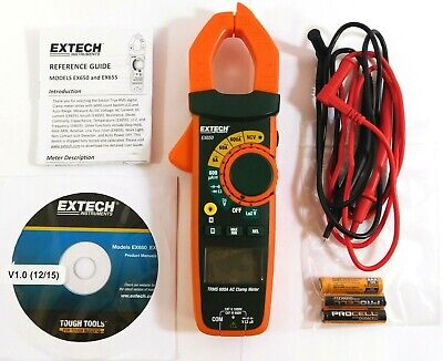 Extech Ac Clamp On Digital Clamp Meter 1.2 Jaw Capacity Cat Iii Ex650