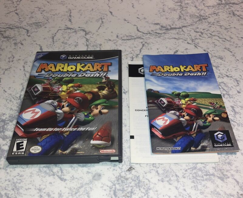 Gamecube Mario Kart Double Dash - Case And Manual Only - No Game - Authentic