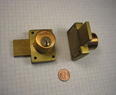 Sargent 1654-1-us10 Pin Tumbler Cabinet Lock Satin Bronze Missing Keys