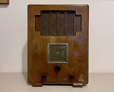 Radio d'epoca a valvole anni 30 Vulcain Radio