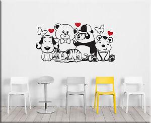 adesivi murali orsetti cameretta bimbi wall stickers decorazioni ... - Decorazioni Pareti Orsetti