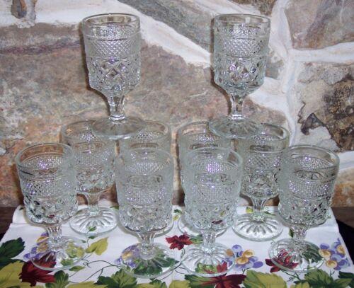 "10 Vintage Anchor Hocking Glass Wexford  5.5"" Juice Wine Goblets"