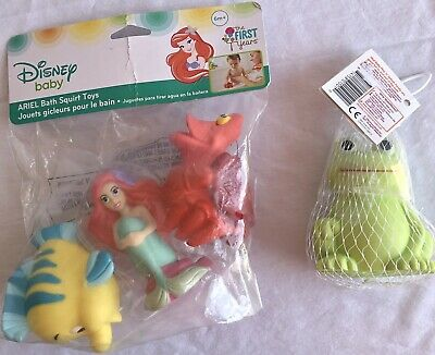 Bath Squirt Toys Baby Child Frog Ariel Set Ariel Sebastian Flounder New