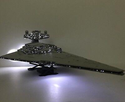 *PRO BUILT* HUGE Imperial Star Destroyer W/FULL LIGHTING Prop Replica Star Wars