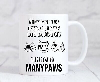 Funny Birthday Gift For Best Friend Wife Mum Cat Lady Animal Lover Coffee