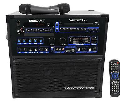 Vocopro Gigstar Ii Portable Dvd Cd 100W Karaoke Machine System  2  Microphones