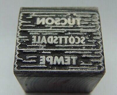 Printing Letterpress Printers Block All Metal Tucson Scottsdale Tempe