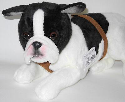 Uni-Toys Neuware großer liegender Hund Französische Bulldogge Bully ca.50cm lang ()