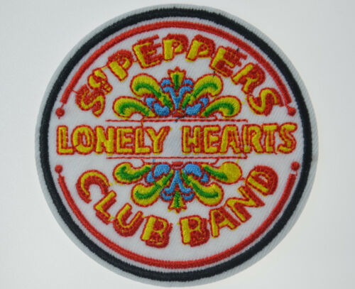 The BEATLES SGT. PEPPERS LONELY HEARTS CLUB BAND Patch Iron On Applique 3 1/2""