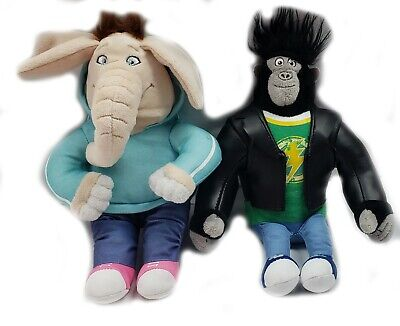 TY Sing Beanie Babies Lot of 2 MEENA the Elephant and JOHNNY Gorilla Plush
