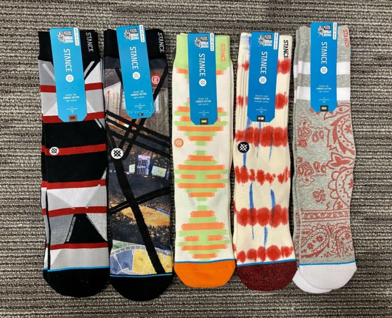 5 Pairs of Stance Big Kids Socks L/XL Size 6-8.5