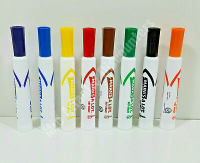 Marks A Lot Colored Markers - Avery Marks A Lot Dry Erase Chisel Tip Markers Box of 8 Different Colors