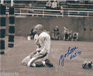 YA TITTLE signed 8x10 photo NY GIANTS HOF auto LSU 49ers PHOTOGRAPH