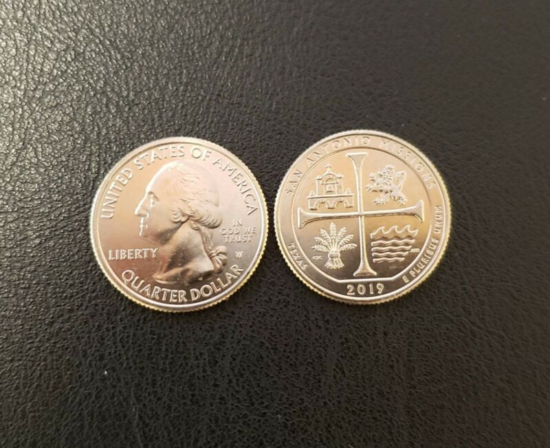 2019-W 25c San Antonio Missions Quarter Uncirculated