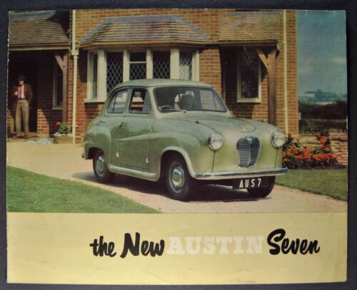 1953 Austin A30 Seven 4-Door Sedan Sales Brochure Folder Nice Original 53