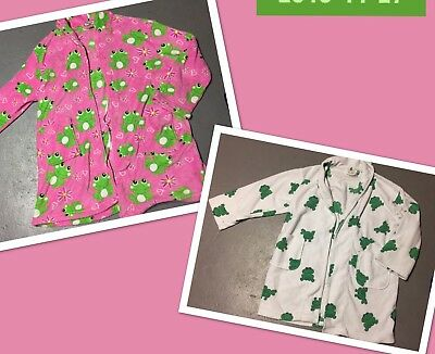 Frog Robes Womens Fleece Pajamas Cover Up Sleepwear Robe Lot Of 2 One Size - Frog Robe