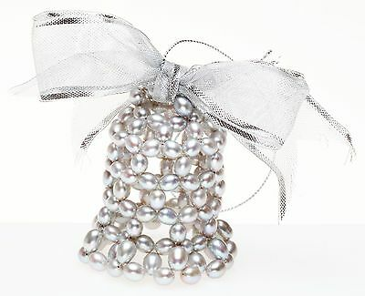 - HONORA COLLECTION Cultured Freshwater Pearl Bell Ornament ~ NIB