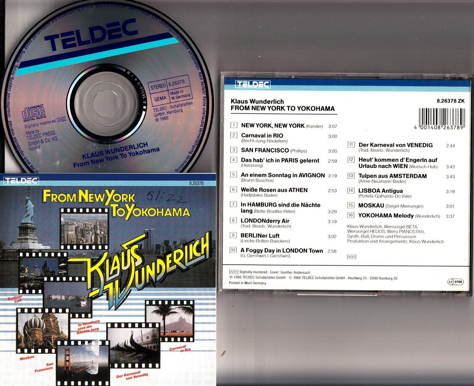 cd8875ee5f7dd1 Details about Klaus Wunderlich - From New York To Yokohama CD (1986  W.Germany) Wersi Organ