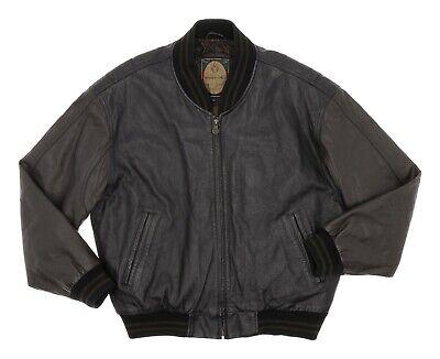 MEMBERS ONLY Varsity Leather Jacket XL Mens Flight Bomber Jacket Motorcycle Coat