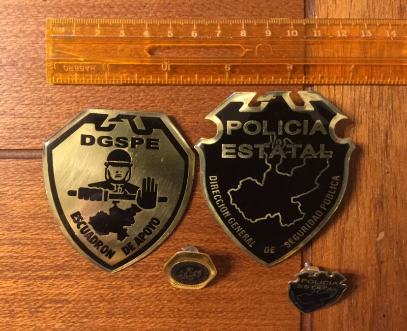 Rare Obsolete Mexico State Of Jalisco Police Policia Badge & Pin Collection Lot