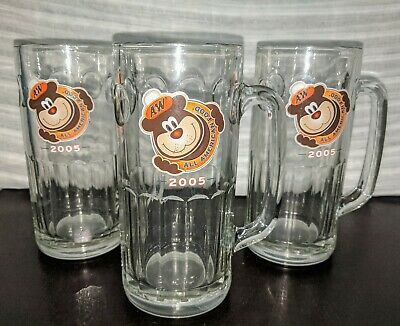 (3)  A&W ROOT BEER GLASSES / MUGS--FLOATS--2005--ALL AMERICAN FOOD