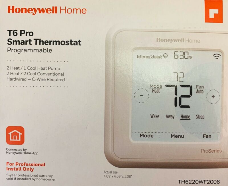Honeywell - TH6220WF2006 -  T6 Pro Wi-Fi Programmable Thermostat Band New