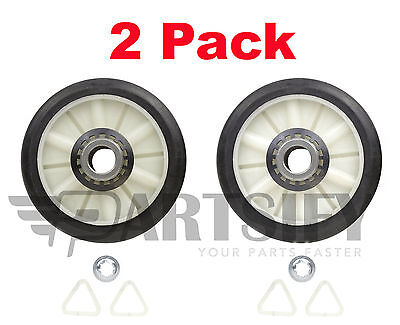 2 Pack  New  349241T 349241 Dryer Drum Roller Kit For Whirlpool Kenmore Sears