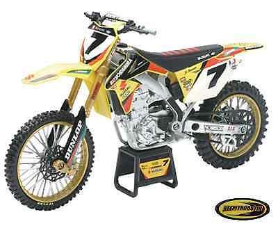 James Stewart Suzuki Rmz450 New Ray Toys Dirt Bike 1:12 Scale Motorcycle