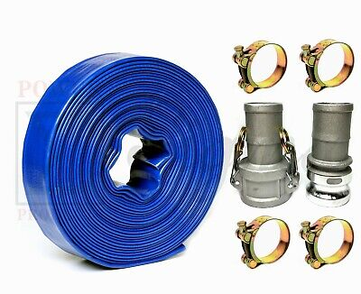 Sigma 2 Inch X 50 Feet Agricultural Pvc Lay Flat Discharge Pump Hose Camlock