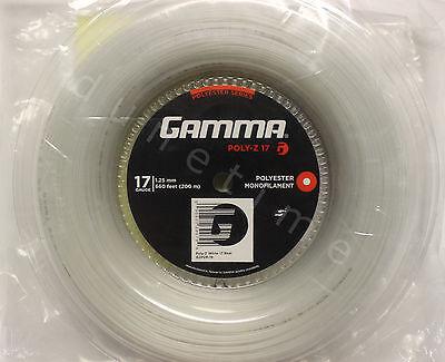 Gamma White Reels (Gamma Poly-Z 17g White 660' Reel Polyester Tennis String 1.25mm 200m NEW)