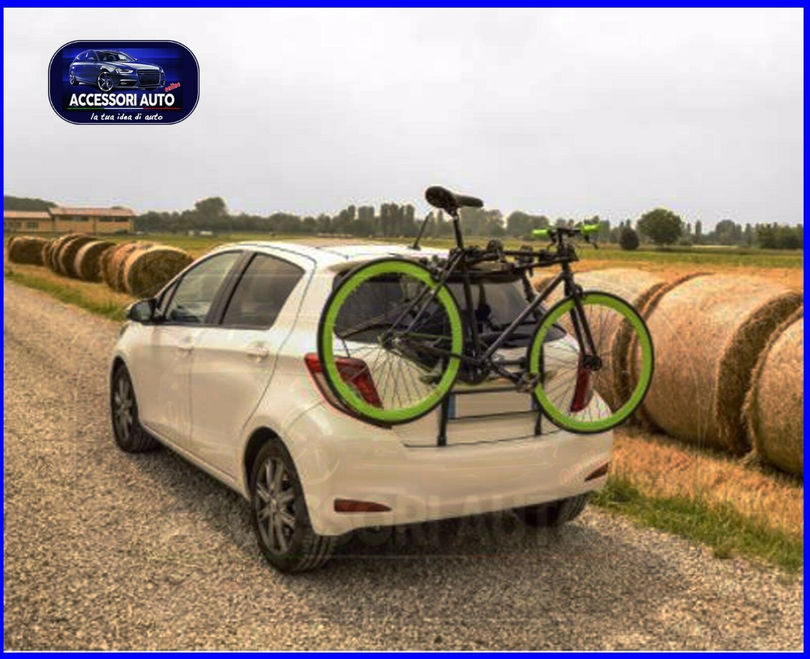 Portabici posteriore per Volkswagen VII 5g dal 2012 in poi supporto biciclette