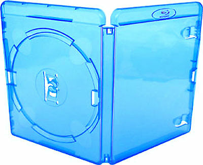 50 X Genuine Amaray Single Blu Ray Case 15mm Spine - Pack of 50