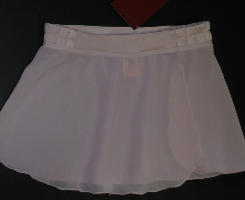 NWT Mirella Pleat Detail Mock Wrap Skirt Pink Girls 8/10 MS52C