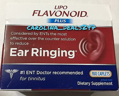 NEW Lipo Flavonoid Plus 100 Caplets Expires APRIL 2020 For Ear Ringing for sale  Shipping to India