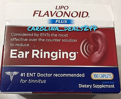 New Lipo Flavonoid Plus 100 Caplets Exp June 2019 For Ear Ringing