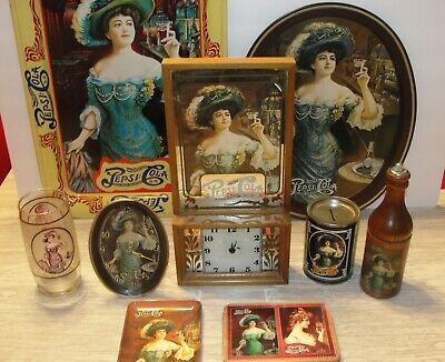 LARGE VINTAGE PEPSI COLA VICTORIAN LADY COLLECTION