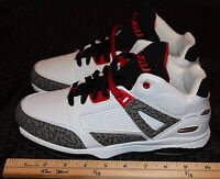 dc22ac22c17721 FUBU Mens Athletic Mid Ankle Tennis Shoes Size 7 White Grey Black Red Item   1