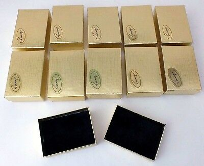 Gold Foil Fluffy Felt Filled Gift Boxes Jewelry Cardboard Box Lot-10 - Gold Gift Box