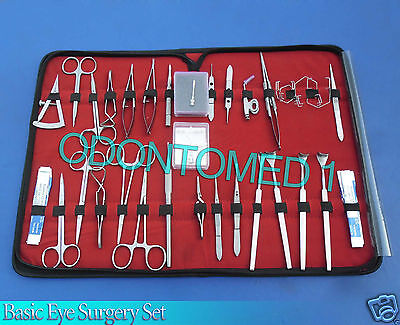 Basic Eye Set Of 45 Instruments Ophthalmic Lab Surgical Ey-020
