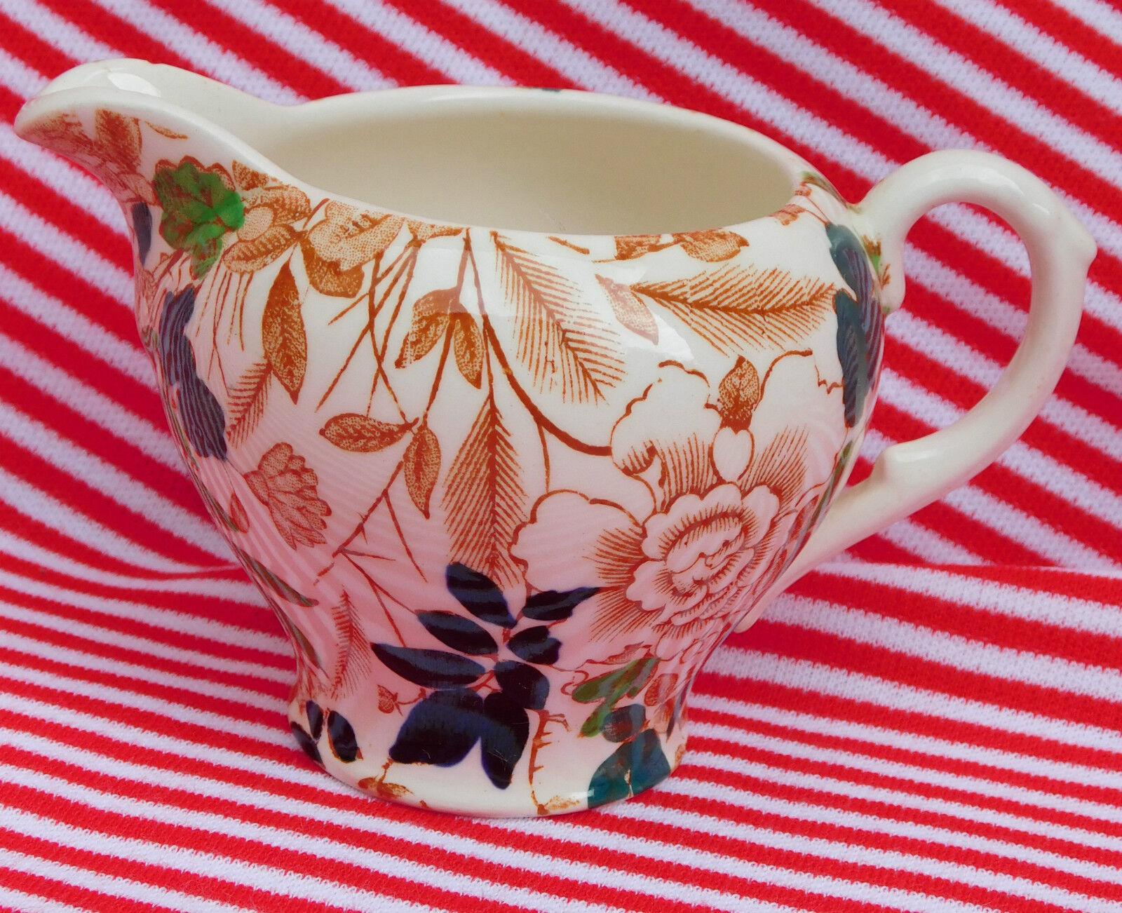 Royal Cauldon small milk jug Creamer Bittersweet Vintage Staffordshire pottery
