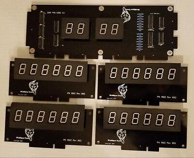 Williams System 3, 4 or 6 DIY Display kit - Wolffpac - Orange digits