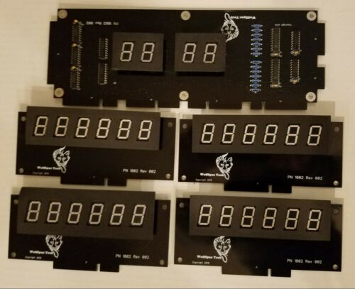 Williams System 3, 4 or 6 DIY Display kit - Wolffpac - Orange digits