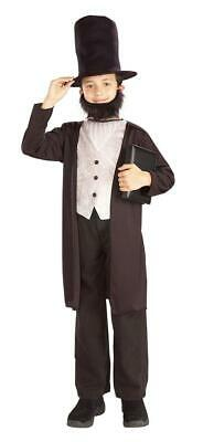 Abraham Lincoln Kids Costume (President Kids Abraham Lincoln Child School Report Costume)