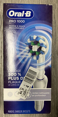 NEW Oral-B Pro 1000 Deep Clean Rechargeable Toothbrush - White