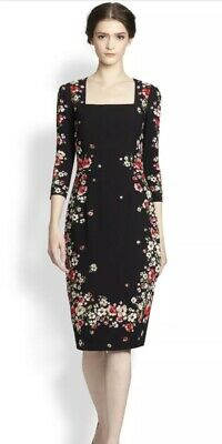 Gorgeous Dolce and Gabbana Floral Sheath Midi Dress Sz 42/8 (Dolce And Gabbana Flower)