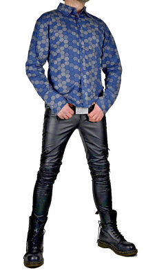 TRIPP GOTHIC COSTUME JOKER PRINTED HALLOWEEN GOTHIC STAGE BAND SHIRT ST7410MP Casual Button-Down Shirts