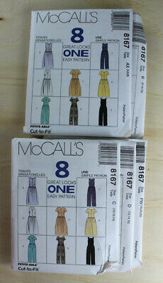 8167 McCALL'S  90s Pattern 8 in 1 Easy Style Jumpsuit Dress Romper Cute - Fun Easy Crafts