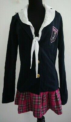 Charm School Dropout Naughty School Girl Sexy Halloween Costume Sz L 10-14 - Naughty School Girl Halloween Costumes