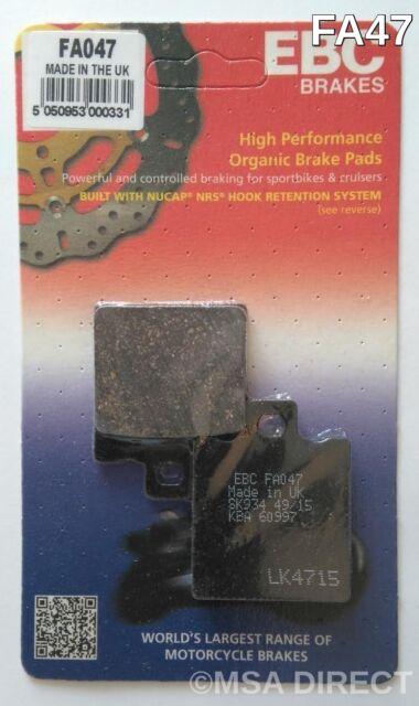 Aprilia RS125 (1992 to 2005) EBC Kevlar REAR Brake Pads (FA47) (1 Set)