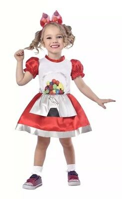 Gumball Machine Costume - Size Toddler 2T Dress Up Halloween New